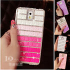 Gradient Bling Diamond Case Cover For Iphone 5s Samsung Note 2 3 i9300 i9500 S5