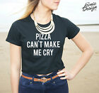 * Pizza Can't Make Me Cry Crop Top Tumblr Fashion Cant Funny Fresh Swag *