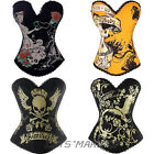 Beautiful New sexy overbust Boned hook eyes Punk Corset Top Colorful Patterns