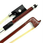 1/2 3/4 4/4 QUALITY BRAZILWOOD VIOLIN BOW EBONY FROG REAL HORSE HAIR *NEW*