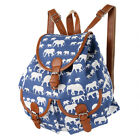 Vintage Lady's Canvas Travel Rucksack Hobo School Bag Satchel Bookbags Backpack