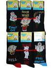 12 Mens Family Guy 100% Official Cartoon Novelty Character Socks / UK 6-11