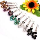 NEW Mixed Colors AB Crystal Glass Grape-shape Bead Dangle Hoop Earrings 6 Option
