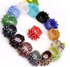 Fashion Mixed Colors Faceted Crystal Beads Stretch Ring Adjustable 16 Options