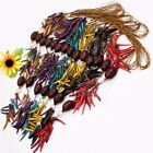 Mixed Coconut Shell Stick Pepper-shaped Drum Beads Necklace 6 Colors 7 Options