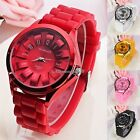 Unisex Silicone Rubber Jelly Gel Quartz Analog Sports Women Wrist Watch 5 Colors