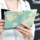 Brand New Indigo Passport Cover Case Holder - World Map