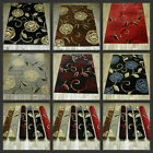 FLORAL RUG BLACK RED BEIGE BROWN ROSE DESIGN RUNNERS SMALL LARGE LIVING ROOM