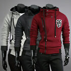 100% Cotton Big Discount UK Stock Men warm zipper Hooded Coats Jackets Tops