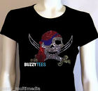Pirate Shirt with Skull and Swords,  Buccaneer, ladies blouse, Small - 5X