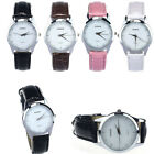 Fashion Classic Lady Womens Girl Unisex Leather Quartz Wrist Watch Chic