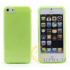 1/8 Colors Soft Hybird TPU Silicone Gel Skin Case Cover for Apple iPhone 5S 5G