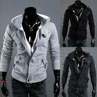 New Mens Casual Zip Up Coat Hoodies UK S-XXL Jacket Hoody Outerwear Top Sweater