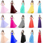 Women's Chiffon Long Formal Prom Dress Ball Party Bridesmaid Evening  Prom Gowns