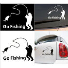 1PC Funny Styling Car Stickers Go Fishing Outdoor for Car Accessories Decoration