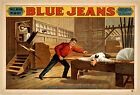 Photo Print Vintage Poster: Stage Theatre Flyer Blue Jeans 01