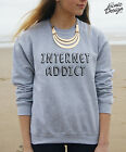 INTERNET ADDICT Jumper Sweater Top Tumblr Fashion WIFI Love Funny Gift Hipster