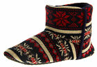 Mens Dunlop Boot Slippers Fairisle Eskimo Flat Warm Winter Boots Indoor Slipper