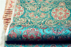 "29""W 4C lotus flora brocade silk fabric pillow cushion placemates tie decoration"