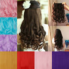 "sexy queen 5 clip in hair extensions pink purple blue on sale curly 24"" 26"" XP"