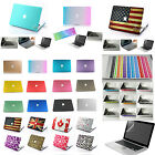 4in1 Rubberized Hard Case anti dust cover For New Macbook Air 11 Pro 13 15 2014