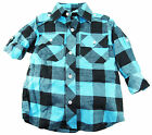 American Heritage Toddler Boys Blue Plaid Flanel Long Sleeve Shirt 2T 3T 4T
