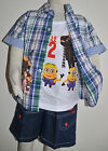 NEW BOY Despicable Me 2 three pieces Cotton Sets size 2,3,4,5,6,8
