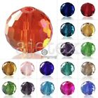 72x 8mm Glass Crystal Disco Ball Spacer Loose Beads Craft Jewellery Making 5003