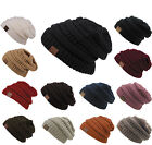 New Womens Knit Slouchy Beanie Oversized Thick Unisex Crochet Winter Hat