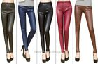 1Pc Lady's Sexy Skinny Stretch Tights Pants Imitation Leather Leggings 10color