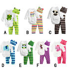 Baby boy girl clothes Baby climb clothes three-piece suit jumpsuit 6-24 months