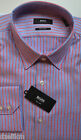 NWT Hugo Boss Black Label By Hugo Boss Stripe Cotton Regular Fit Dress Shirt