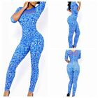 New Fashion Blue Club Casual Party Sexy Jumpsuit,Bodycon,Bodysuit