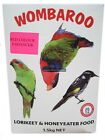 Red Lorikeet Honeyeater Food 1.5kg to 4.5kg Wombaroo Feed Supplement Bird Powder