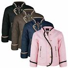 KIDS LONG SLEEVE DIAMOND QUILTED PATTERN JACKET GIRLS LIGHT PADDED COAT 3-14Y