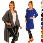 Ladies Warm Coat Long Wrap Cardigan Roll Up Sleeves Poncho One Size 10/12/14 277