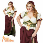 Adult Renaissance Wench Plus Size Tavern Medieval Maiden Peasant Fancy Dress New