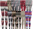 U29 NEW WOMEN AZTEC KINTTED MULTI COLOUR LADIES NORDIC SNOWFLKE FAIRISLE LEGGING