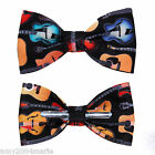 Colorful Guitars Clip On Bow Tie Bowtie