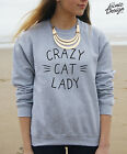 CRAZY CAT LADY Jumper Sweater Top Fashion Blogger Tumblr Christmas Funny Gift