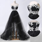 Sexy Long Tiered Beaded Strapless Evening Masquerade Bridesmaid Party Prom Dress