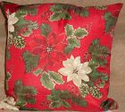 "Christmas Cushion Covers, Poinsettia & Snowflake 18"" & 22"", lovely Quality"