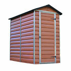 AMBER PALRAM SKYLIGHT PLASTIC GARDEN SHED 6 SIZES AVAILABLE