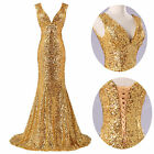 2014 Sequins Mermaid Formal Evening Long Gown Party Prom Ball Bridesmaid Dresses