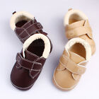 Brown Khaki Leather School Walking Skidproof Soft Outsole Baby Toddler Shoes