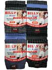 6 Mens Billy Boxer Shorts Jersey Cotton Trunks Briefs Underwear / 3XL 4XL 5XL