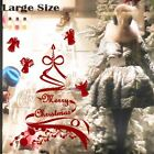 Large Christmas Garland Ribbons Tree Angels Sticker Shop Window House Decoration