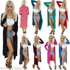New Ladies Women Long Sleeve Length Boyfriend Maxi Cardigan Size S M L XL 8 14
