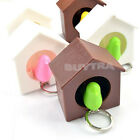 Cute Bird Nest Sparrow House Key Chain Ring Chain Wall Hook Holders Whistle USBD