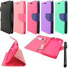 For ZTE Grand X Z777 Flip Wallet LEATHER POUCH Case Cover Phone Accessory + Pen